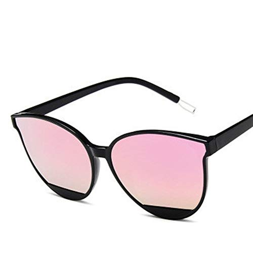 NZHK Rojo clásico Las Gafas de la Vendimia Mujer Oval de Lujo de plástico de diseño de Ojo de Gato Gafas de Sol UV400 de la Manera for el Controlador Gafas de Sol polarizadas (Color : Pink)
