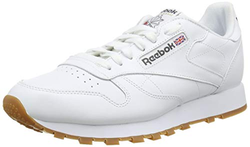 Reebok Classic Leather, Sneakers basses homme Blanc (WhiteGum) 42 EU (Taille Fabricant : 8 UK)
