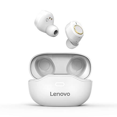 Lenovo X18 - Auriculares inalámbricos con Bluetooth, con diseño ergonómico, ultraligeros, sonido estéreo de calidad certificado, IPX4, autonomía de 24 horas, control táctil