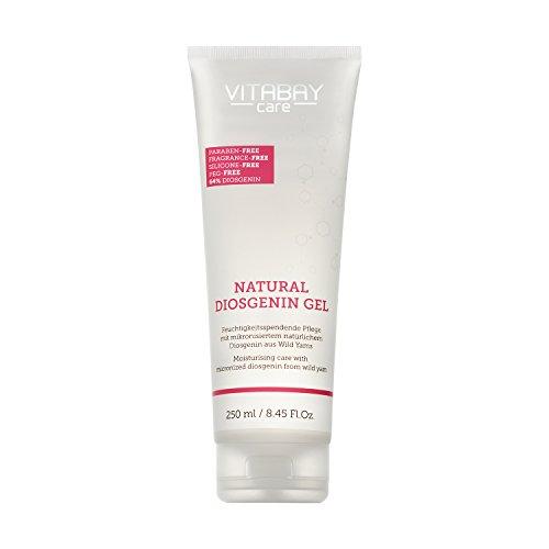 Vitabay Natural Diosgenin Gel 250 ml • Vaginal Creme • 80% Yamswurzel Extrakt • 64% Diosgenin • Extra stark