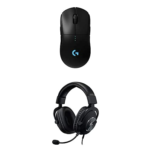 Logitech G Pro X Gaming Headset with Blue VO!CE Technology Bundle with Logitech G Pro Wireless Gaming Mouse with Esports Grade Performance