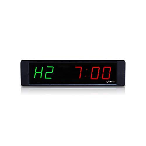 GANXIN Digitaler Fitness-Timer, Wandmontage, 2,5 cm, HIIT Trainings-Timer, elektronischer Intervall-Timer