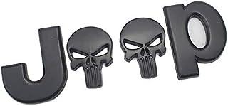 D28JD Logo Emblem für Karosserie ABS Buchstaben Aufkleber für J eep Punisher/Wrangler/Grand Cherokee/Kompass,Schwarz