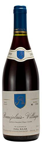 Beaujolais-Villages 1993 - Besonderer französischer Jahrgangswein, Seltene Weinrarität, Gamay Traube, Rot-wein, Trocken
