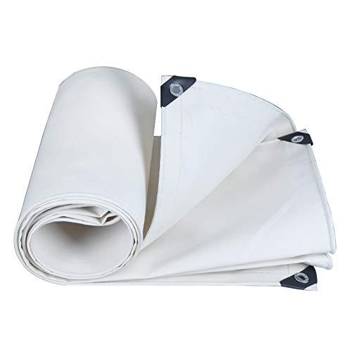 Lona De Lona Blanca, Impermeable Y Paño Grueso para La Lluvia Protección Solar Y Aislamiento Térmico con Orificios De Metal para Balcón Jardín Exterior 500G / M²(Size:3×5M)