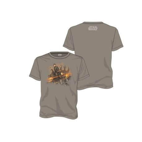 Star Wars Rogue One Grupo Rebelde Camiseta, Gris, M para Hombre