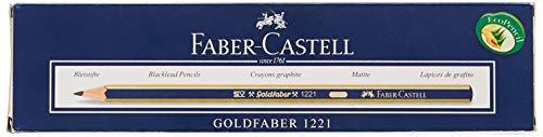 Faber Castell Gold 1221–3B Bleistift, 12Stück, schwarz