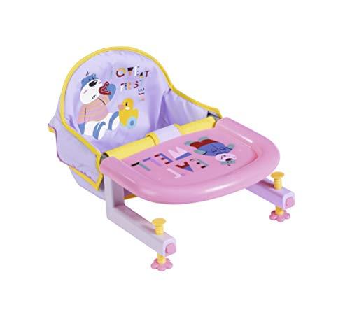 Zapf Creation 828007 BABY born Feeding Tischsitz für Puppen, leicht anzubringen, Puppenzubehör 43 cm