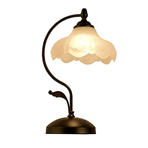 Lámpara De Mesa Luz Lámparas De Escritorio Luces Lámpara De Mesa Americana Dormitorio Creativo Simple Moderno Cálido Sala De Estudio De La Boda Sala De Estar Decoración Retro del Hogar Lámparas De No
