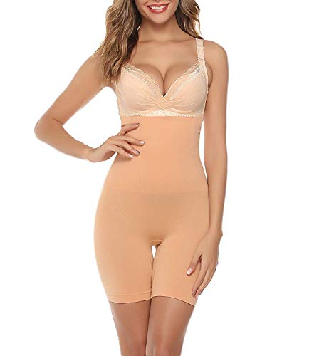 iClosam Damen Figurenformend Miederpants ShapePants Miederhose Miederslip Shapewear Bauch Kontrolle Shaping Hose mit Bein Hohe Taille Taillenformer Shaper