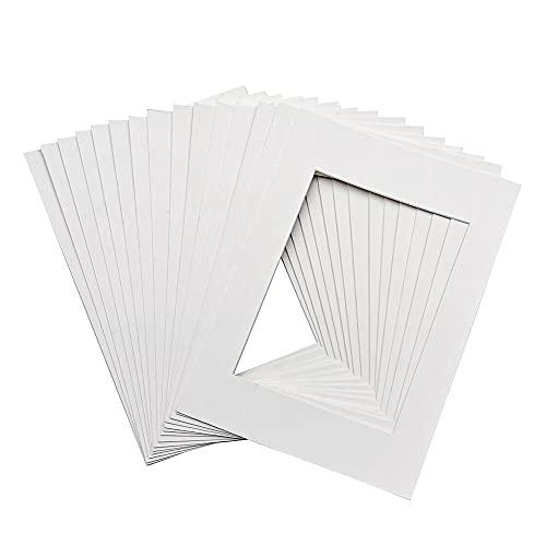 12 Stück Passepartout A4 Weiß, Säurefrei Museumsqualität, Alterungsbeständig für Poster, Gemälde, Fotoarbeiten
