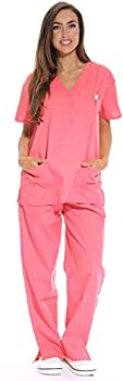 Just Love Women s Coral Scrub Set - Extra Small,Coral,X-Small