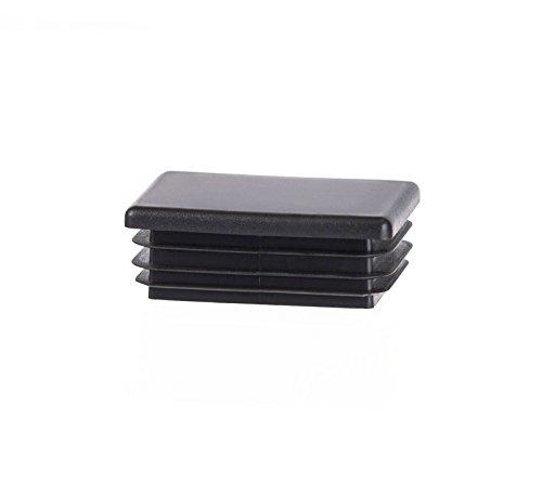 5 piezas tapón para tubo rectangular 60x40 mm negro plástico tapón capuchón