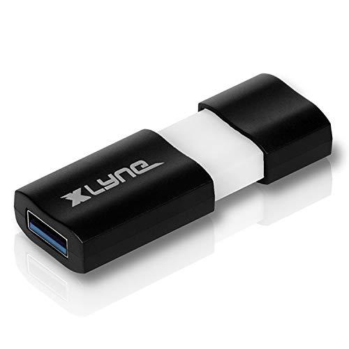 XLYNE WAVE USB Stick │128GB│USB 3.0 – Speicherstick │Push&Pull Mechanismus │Windows, Mac, Linux