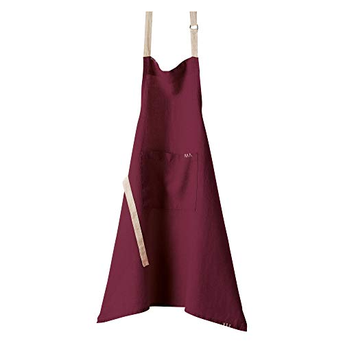 Winkler - Tablier de cuisine à poche > - 80x85 cm - Protection 100% lin - Blouse adulte lavable - Sangle ajustable