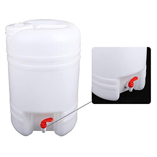 MORN Deposito de Agua con Grifo, Cubo de Almacenamiento de Agua, Recipiente de Agua Portátil para Exteriores, para Acampar al Aire Libre, Senderismo, Mochilero
