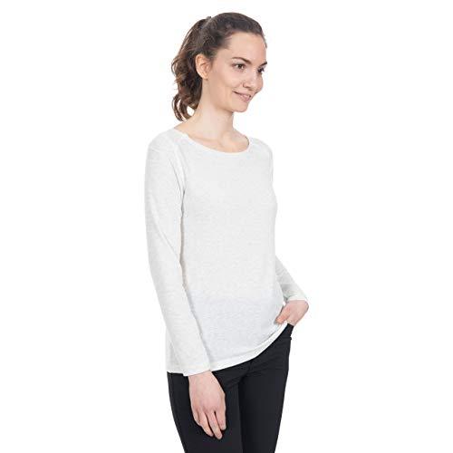 Trespass Daintree Long-Sleeved Chemisier Femme, White Marl, L