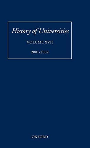 Download History of Universities 2001-2 0199256365