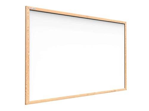 ALLboards Whiteboard mit Holzrahmen 90x60cm Magnettafel Weiß Magnetisch, Trocken Abwischbar