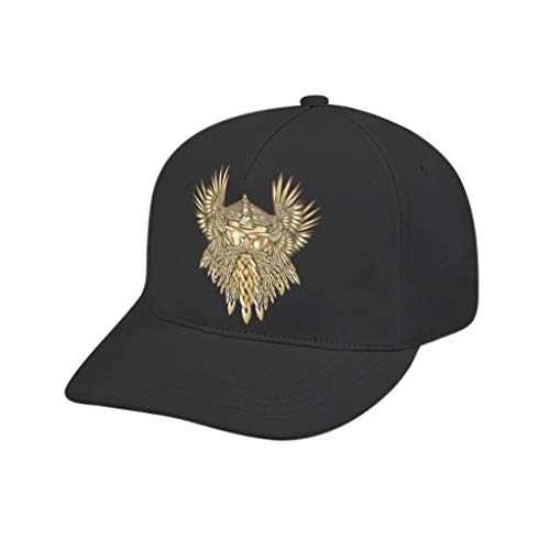 Viking Odin - Gorra de béisbol con visera dorada de alta calidad, diseño de secado rápido, gorra de béisbol para adolescentes, niños y niñas, deportes al aire libre, ropa deportiva de verano