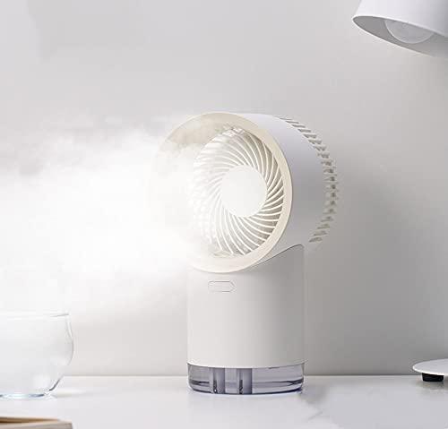 Ventilador De Refrigeración De Escritorio Recargable Usb Blanco