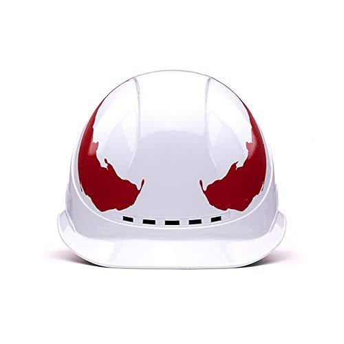 GJX- Hard Hat ABS Helm Schutzhelm Baustelle Helm Elektriker Technik Schutzkappe Atmungsaktiver Schutzhelm for Männer und Frauen (Color : White)