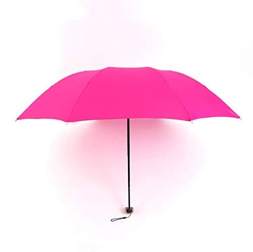 Sombrilla Plegable de Moda pequeña Lluvia Regalo de Mujer Hombres Mini Sombrilla de Bolsillo Niñas Sombrillas de Viaje portátiles Impermeables Anti-UV