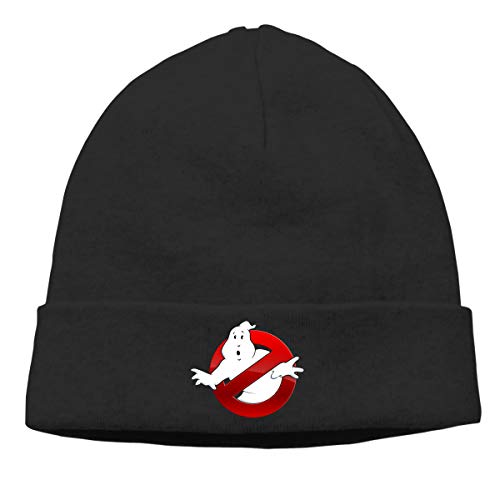 Adults Ghostbusters Winter Hat, Black, Grey or White, soft and comfortable