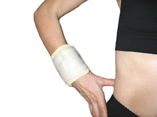 Polsiera in 100% Lana Merinos -XL (21-22 cm.)- Fascia Ortopedica per Polso con Riabilitatore Esercizio Riabilitazione Mano, Polsino da Tennis Tendinite Traumi - UNISEX Uomo Donna