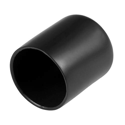 sourcing map - Lote de 20 tapones de goma de 30 mm de identificación de vinilo redondo con tapa de rosca para tornillos (20 unidades), color negro