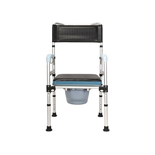 Commode Chaise En Alliage D'aluminium Siège De Toilette Toilette Chaise De Douche Pliante Chaise De Toilette Maison