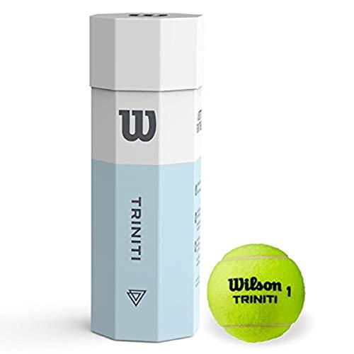 Wilson Pelotas de tenis, Triniti, Juego de 3 pelotas, Funda 100% reciclable, WRT115200