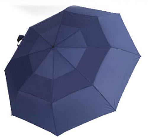 Paraplu Ankerpatroon Uv bescherming, zonbescherming, regen en regen Dual-Use Ultra-Light Automatische opvouwbare Reisparaplu [Zeeblauw]
