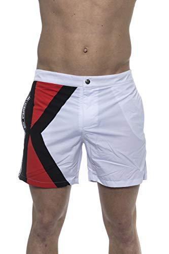 KARL LAGERFELD Beachwear - Pantalón corto con estampado (blanco, XL)