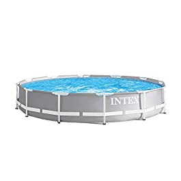 Intex 26710EH 12ft x 30in Prism Metal Frame Above Ground Swimming Pool with Easy Set-Up and fits up to 6 People (Filter…