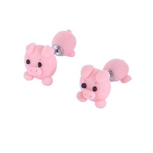 bravewind 1par 3d animal de polímero de arcilla pendientes mordedura oído Pendientes suave pendientes hecho a mano de cerámica Stud Pendientes para niñas Mujeres