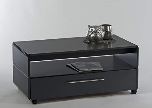 Couchtisch Chrome 100 x 55 cm grau Hochglanz