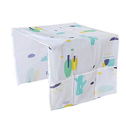 Cubierta antipolvo para frigorífico, 130 x 55 cm, protección contra el polvo con bolsa de almacenamiento, protección contra el polvo de la lavadora, funda para el frigorífico