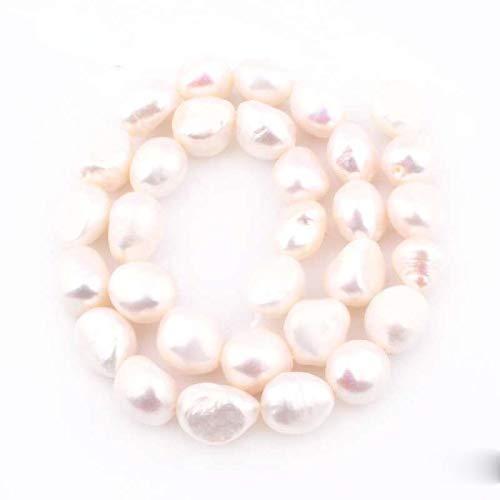 WEIYUE Cuentas de piedra natural a granel de perlas de agua dulce para hacer joyas de mujer (tamaño: 11 12 mm)