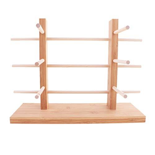 Unlackiertes Holzgestell für Sonnenbrillen, 2-reihig, 3/4/5/6 Ebenen, 3-lagig