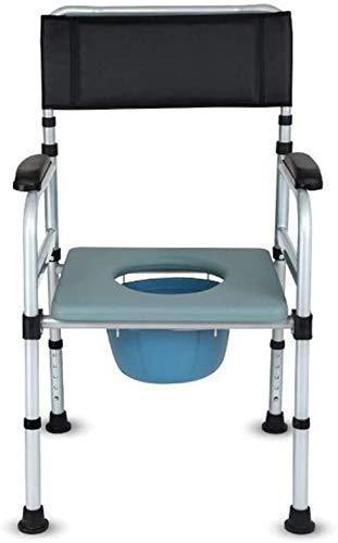 N/Z Einrichtungsgegenstände Multifunktions-Haushaltsklappbarer Toilettensitz Anti-Rutsch-Schlafzimmersitz Kommodenstuhl mit Rückenlehne für höhenverstellbaren Kommodenstuhl 93