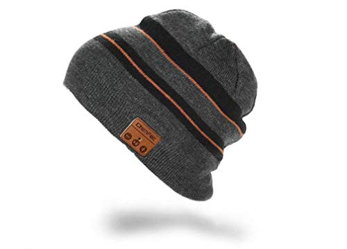 ChenFec Wireless Bluetooth Beanie Hat Wireless Unisex Knit Winter Warm Music Hat with Headphones Built-in Stereo Speaker Hands-Free for Outdoor Sports Gifts
