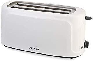Aftron 4 Slices Pop Up Toaster, White - AFT0440N