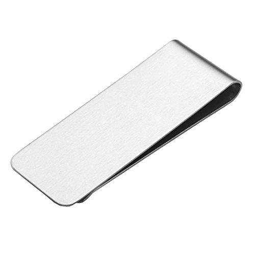 Zysta Herren Edelstahl Geldklammer Schöne Geldscheinklammer Geldclip für Ihren Scheine (Silber#01, 65*24mm)