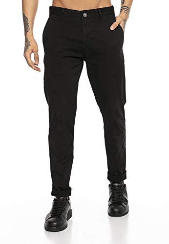 Redbridge Pantalone Uomo Elegante Sportivo Casual Chino Cotone Nero W30L32