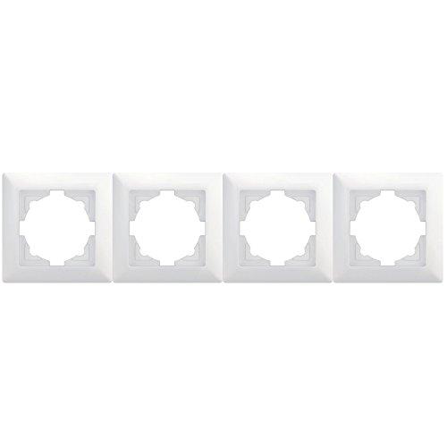 Visage 4-voudig frame voor 4 stopcontacten lichtschakelaar NIEUW 2 jaar