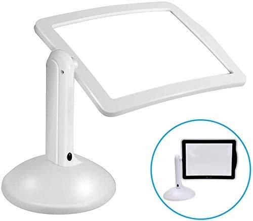 LED Magnifiers 3X Magnifier tabel A4 met licht lezen loepen voor senioren United Oblong standloep met inklapbare standaard leesbril te lezen boeken, tijdschriften, kranten, kaarten