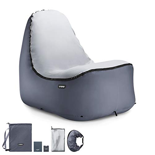 TRONO Aufblasbarer Loungesessel Sitzsack Camping Outdoor Stuhl Luftsessel Sofa Couch