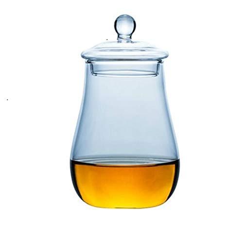 Home+ Verres à Whisky, 2pcs Scotland Verre de Whisky avec Couvercle Rocks Voyage Nosing Portable Verres à vin Whisky Tumbler Coupes (Color : 2pcs)
