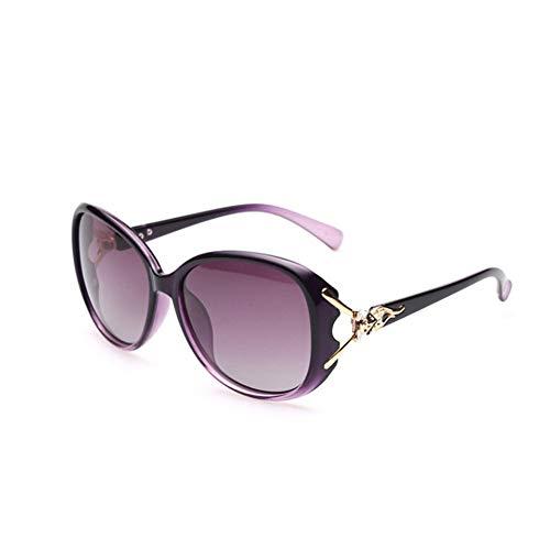 ShawnBlue , Nuevas Gafas de Sol Gafas de Sol de Marco, señoras Grandes, adecuados for el Recorrido al Aire Libre, etc. polarizado (Size : Purple Frame Purple Slice)